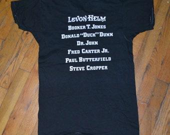 1977 LEVON HELM & The RCO All-Stars w/ Dr John vintage original concert t-shirt Medium/Large (M/L) The Band 70s 1970s tour tee tshirt Gift