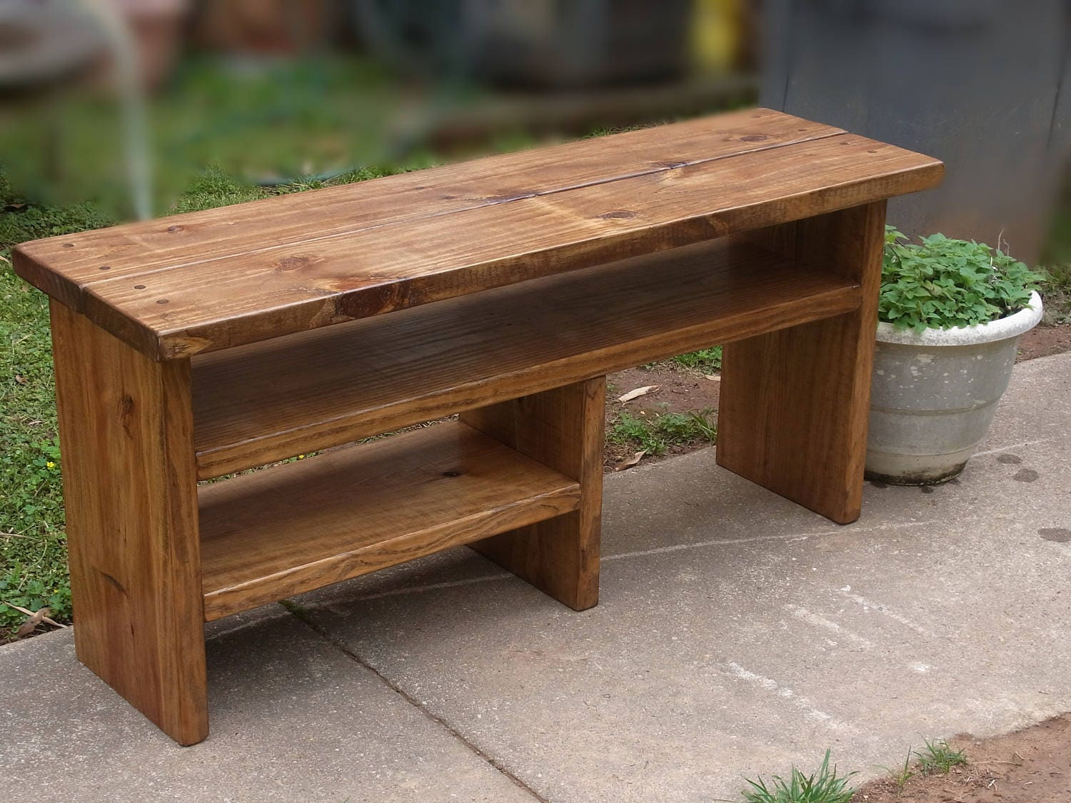 Tall Rustic Boot Cubby Bench Entryway Hallway Mudroom Storage