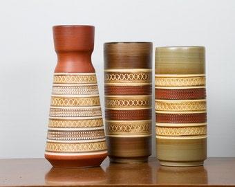 Dumler Breiden Trio of Vases