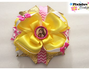 Princess Belle  Stacked Hair Bow