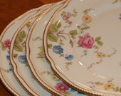 "Castleton China (USA) ""Sunnyvale""  Floral Pattern Set of Four Salad Plates"