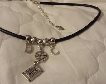 Supernatural inspired 'Dean and Cas the mixtape edition' necklace