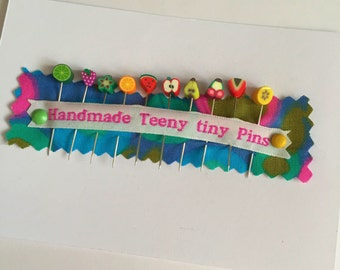 Handmade fimo fruit sewing pins