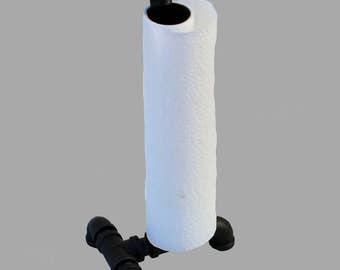 Metal Pipe Paper Towel Holder