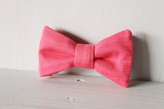 Dog bow tie >> Pink bow with elastic >> Pet gift