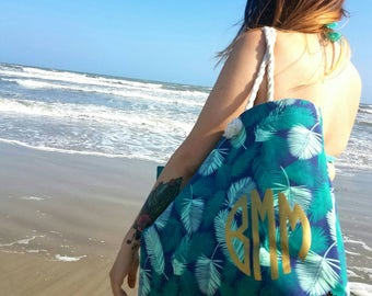 Monogram Beach bag tote | Beach bag | Beach Tote | Custom tote bag | Monogram bag | Monogram | Bag | Tote