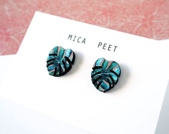 Tropical Stud Earrings - Monstera Studs - Jewellery For Women - Laser Cut Earrings  - Jungle Studs - Botanical Earrings - Leaf Earrings