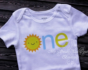 You are My Sunshine First Birthday Outfit- Custom Colors- Personalized- First Birthday Outfit- 1st Birthday- Sunshine- One- Cake Smash