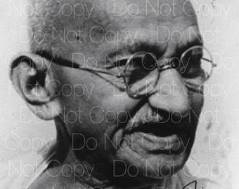 Mohandas Mahatma Ghandi signed 8X10 photo picture poster autograph RP