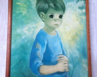 Vintage Big Eye Dallas Simpson Framed print of Little Boy