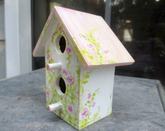 mini painted birdhouse
