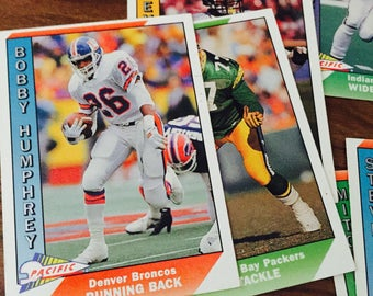 Vintage Football Cards Topps Year 1991 Sports Memorabilia Trading Card
