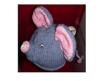 TEA COSY - hand knitted Tea Cozy - Knitted Cosy - ELEPHANT Tea Cosy - Handmade Gift  - Kitchen Accessory - Hand Knit - Tea Cozies - Cozies