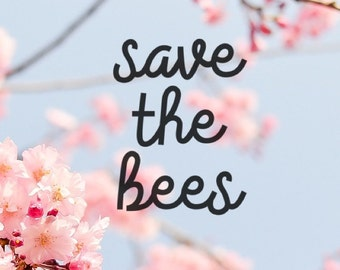 Save The Bees, Laptop Stickers, Laptop Decal, Macbook Decal, Car Decal, Vinyl Decal