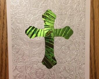Iris Folded Cross Card