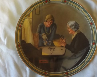 Bradford 1985  A Family's Full Measure Norman Rockwell Collector Plate CL35-9