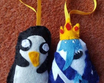 Adventure Time Gunter and Ice King decorations