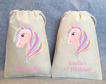 "13- Unicorn Party, Unicorn Birthday, unicorn party favors, Unicorn bags, Unicorn favor bags, Unicorn party favor bags, Unicorn bag, 4""x6"""