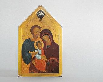 RELIGIOUS HOME DECOR - vintage religiuos wall art, icon print, Christmas, Jesus Joseph Mary, reproduction, Christianity Christian wall decor