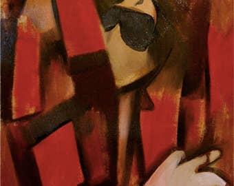 Tommervik Abstract Cubism Michael Jackson King of Pop Music Musician Art Print