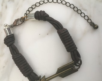 Arrow Anklet with Extension Chain