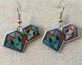 Cute Tokidoki Diamond Earrings