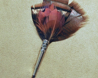 F016 Feather pin, hat pin, FREE US SHIPPING