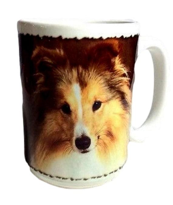 Dog Coffee Mug Sheltie, Shetland, Sheepdog, Made in the USA, Dog Lover Mug, Ceramic Mug
