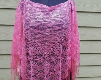 Pink Lace Stevie Nicks Poncho
