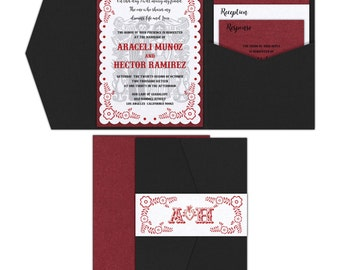 Dia de Los Muertos Wedding Invitation // Day of the Dead Invitation // Los Novios