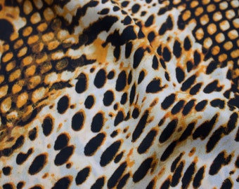 Rust Cheetah Pattern Print on 58'' Single Spandex Fabric By the Yard Style 3203