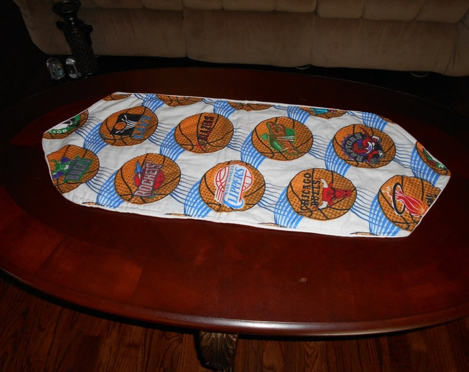 Basketball Table Runner, Dresser runner, Reversible Runner and Table Decorations