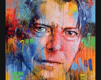 Bowie- print on Canvas, Giclée