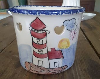 Vintage Nautical Candle Holder Shannon Daughters Beachy Cottage