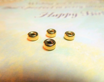 Gold fill Vs Gold Plate...4 Goldfill 5mm Rondelles - Best Price! Limit Per Customer of 8 Total