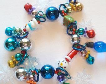 Christmas charm bracelet/Beadiebracelet