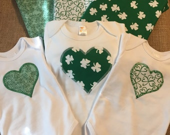 St. Pattick's Day bow tie Onesies and T-Shirts