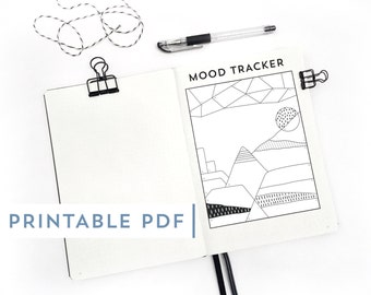 Printable PDF - Journal and Planner Coloring Page / 31 Color By Numbers / Perfect for Mood Trackers or Mistake Cover Ups