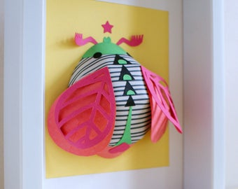 3D wall decoration, Paper 3D art (papercut, papercraft, kids room decoration)