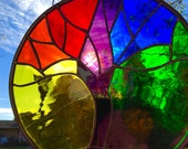 Rainbow Stained Glass Tree Of Life Suncatcher Art MUST SEE