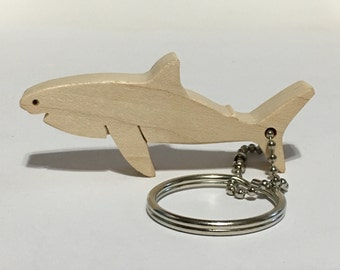 Wooden Shark Keychain, Wood Keychain, Great White Shark, Tiger Shark, Mako Shark, Hai Schlüsselanhänger, Tiburón llavero, FREE USA SHIPPING