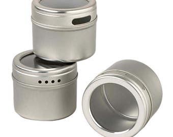 Kamenstein Magnetic Multi-Purpose Spice and Storage Tins