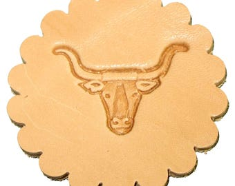 Longhorn 3-D Stamp 88438-00 Leathercraft Stamping Tool