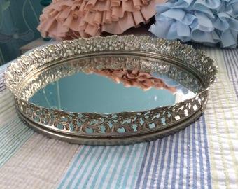 Mirror Vanity Dresser Tray
