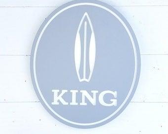 Personalized Surfboard Sign // Custom Engraved Surfboard Wall Art // Beach Decor