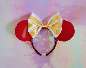 Mickey Macaron Disney Parks Snacks Sweets Confectionary Handmade Mouse Ears Headband