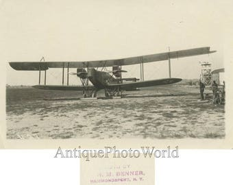 Handley Page early biplane airplane antique aviation photo