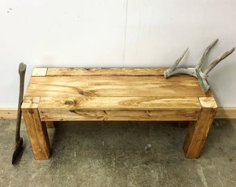 Rustic Modern Bench - The Winifred