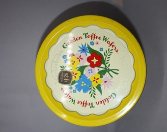 Mackintosh's Golden Toffee Wafer Tin, Vintage Made in England