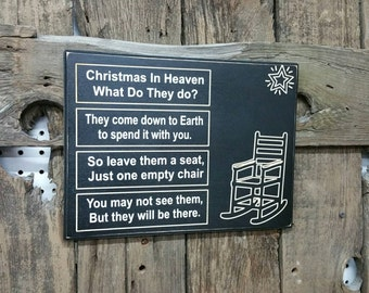 Christmas In Heaven Chair What Do They Do Sign Christmas Gift Heaven Gift Loss Sign Heaven With Chair Heaven Sign engraved